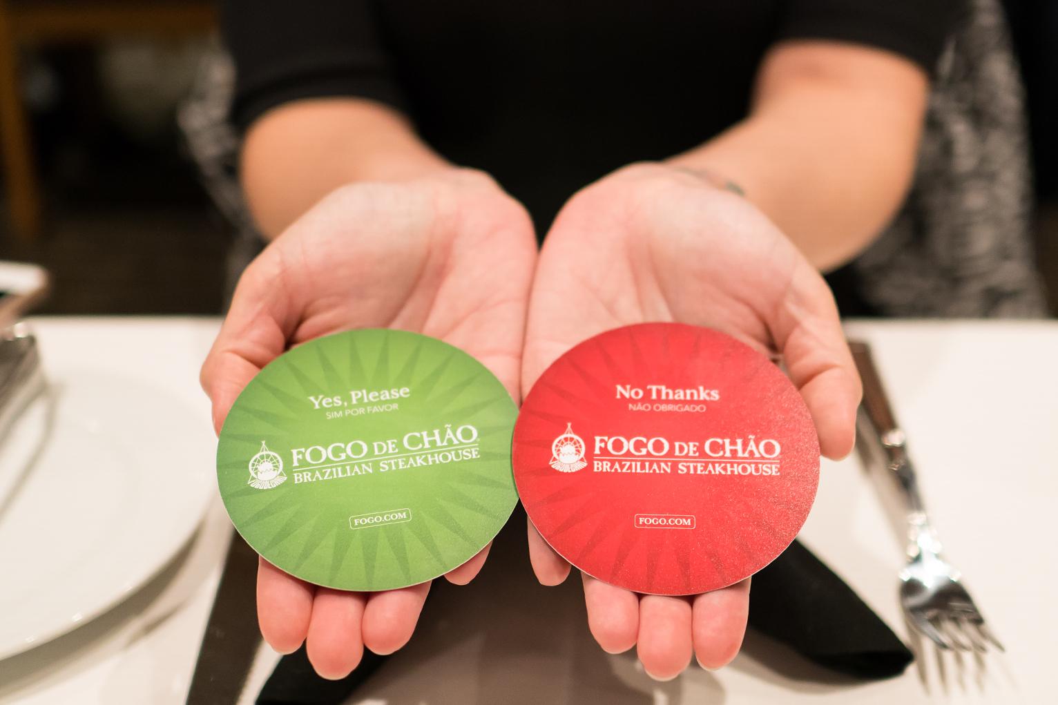 Fogo de Chao flip cards
